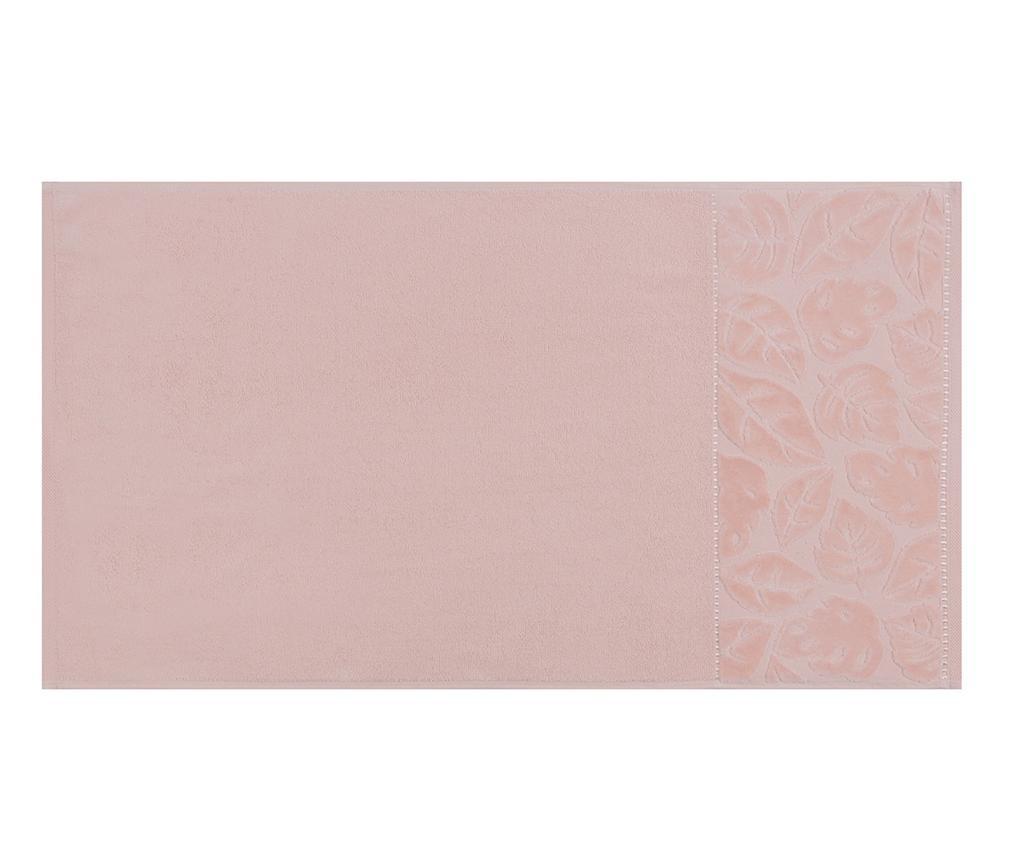 Set 2 prosoape de baie Kismi Kadife Yaprak Salmon 50x90 cm