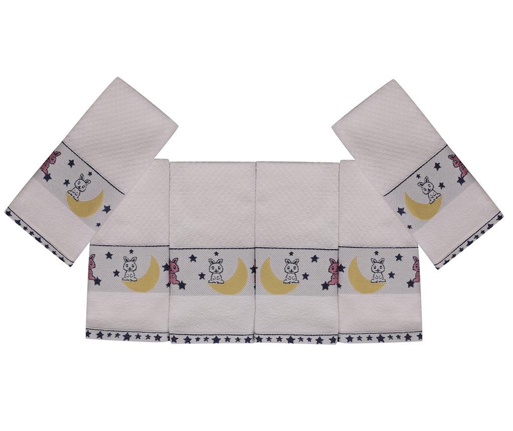 Set 6 dječjih kupaonskih ručnika Bordurlu Tavsan 30x50 cm