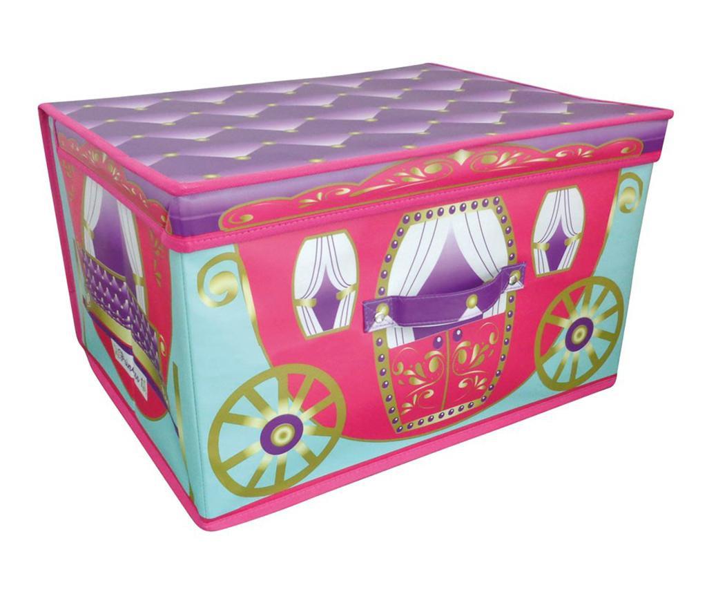 Cutie pliabila cu capac pentru depozitare jucarii Princess Carriage