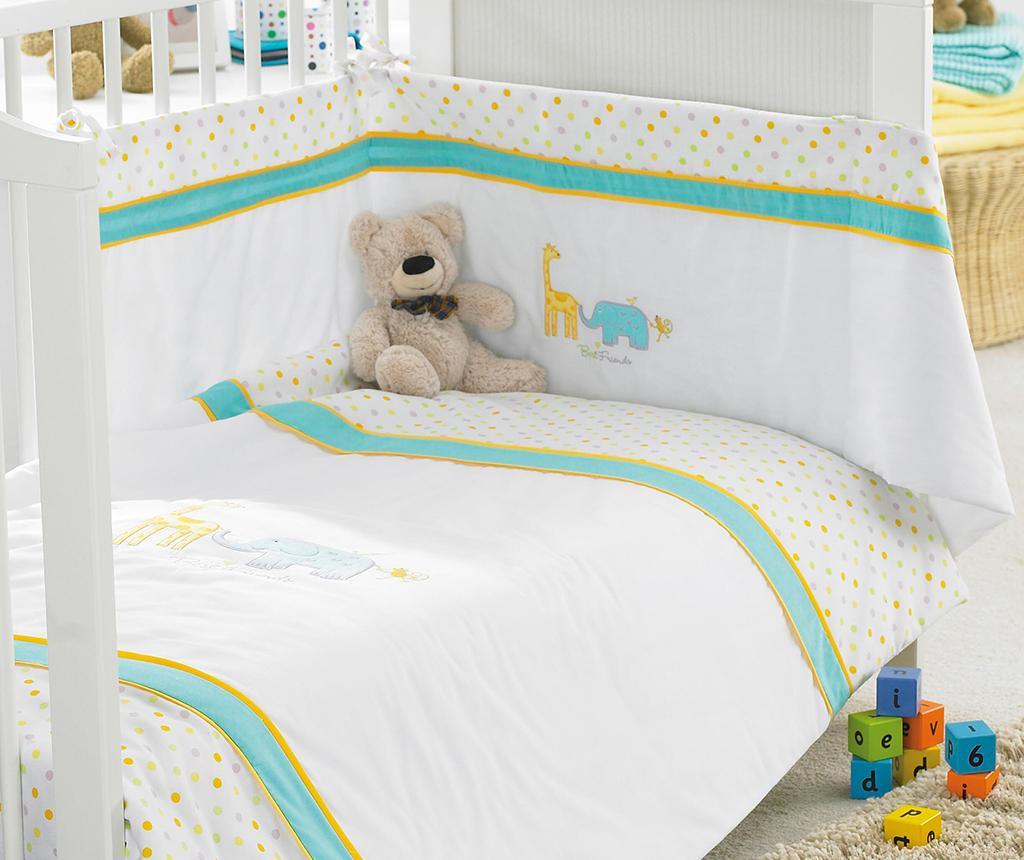 3 delni set posteljnine za posteljico Best Friends