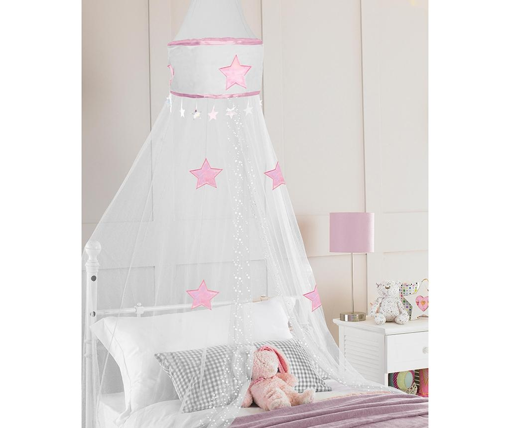 Baldahin Star White Pink 30x230 cm