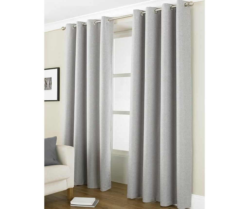 Set 2 draperii Linea Blackout  Grey 229x229 cm
