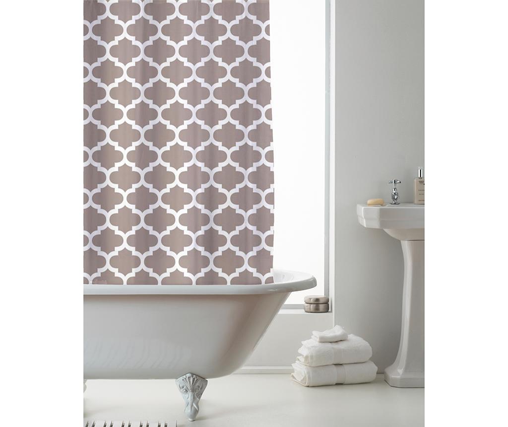 Zavesa za prho Moroccan Mink 180x180 cm