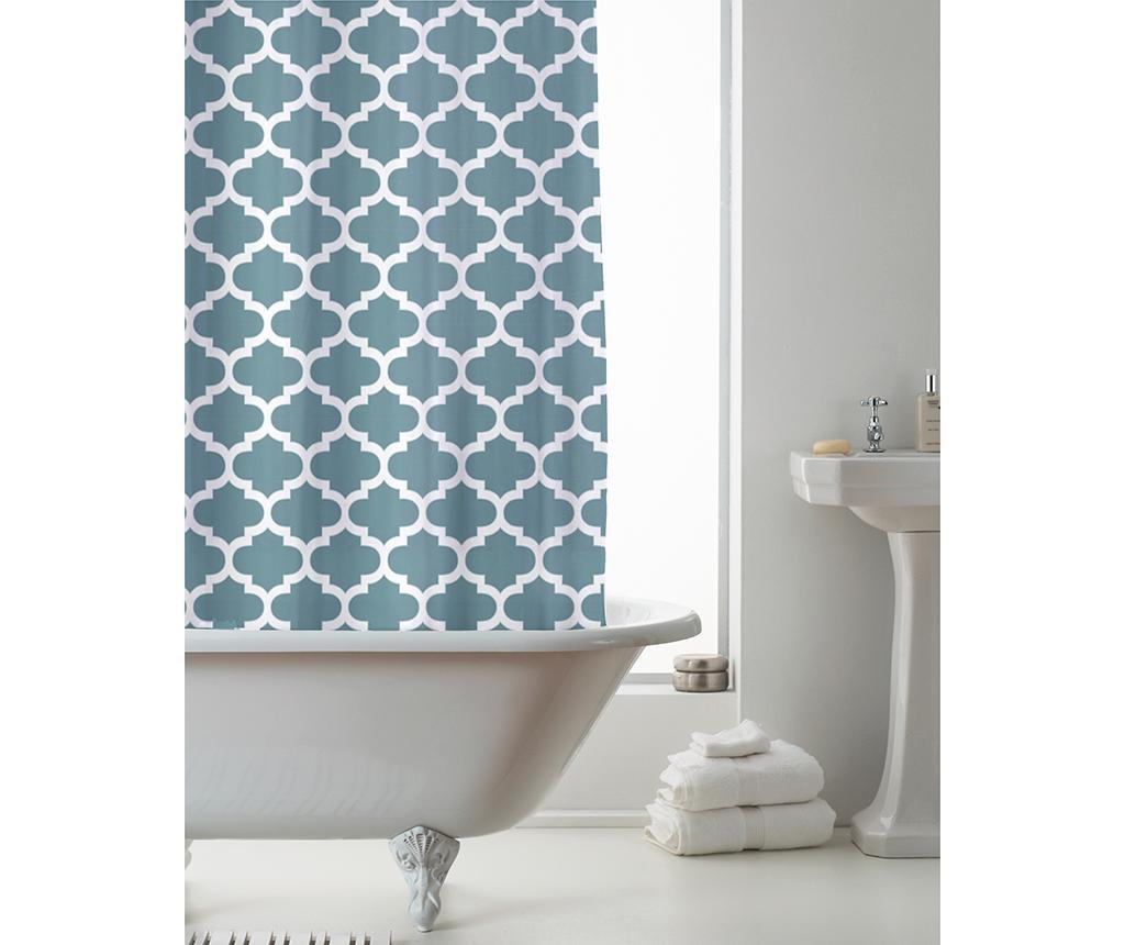 Zavesa za prho Moroccan Teal 180x180 cm