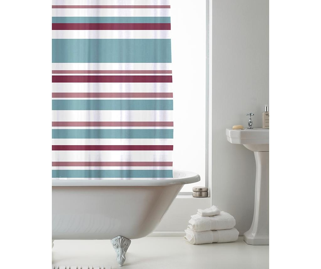 Zavesa za prho Ace Stripes Powdered Teal 180x180 cm