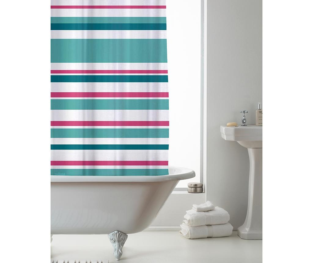 Zavesa za prho Ace Striped Pink Teal 180x180 cm