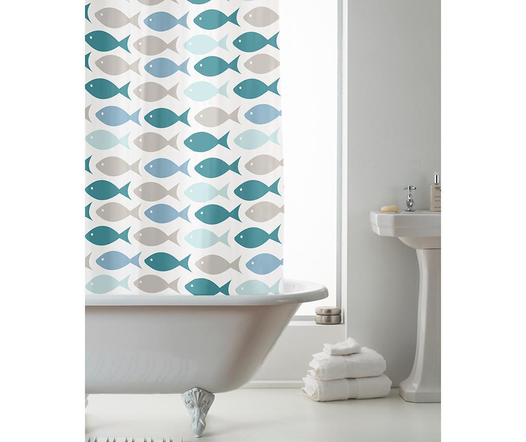Zavesa za prho Coastal Fish 180x180 cm