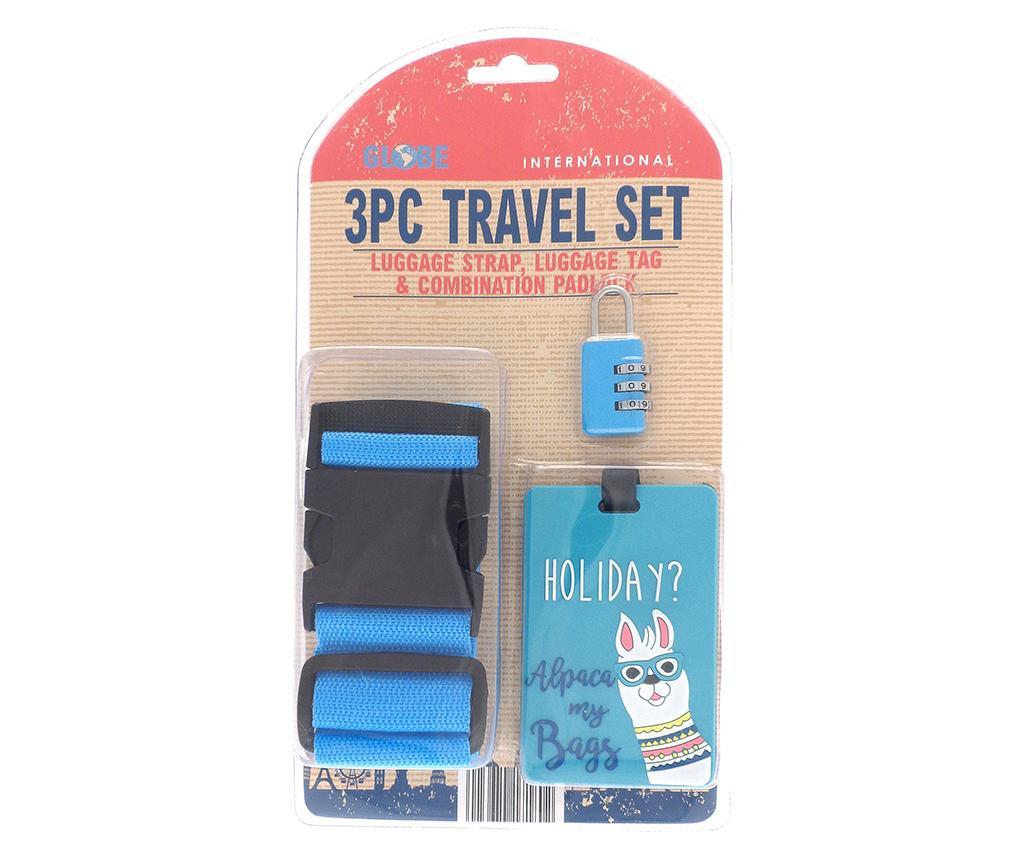 Set pas za prtljago, etiketa in ključavnica Holiday Blue