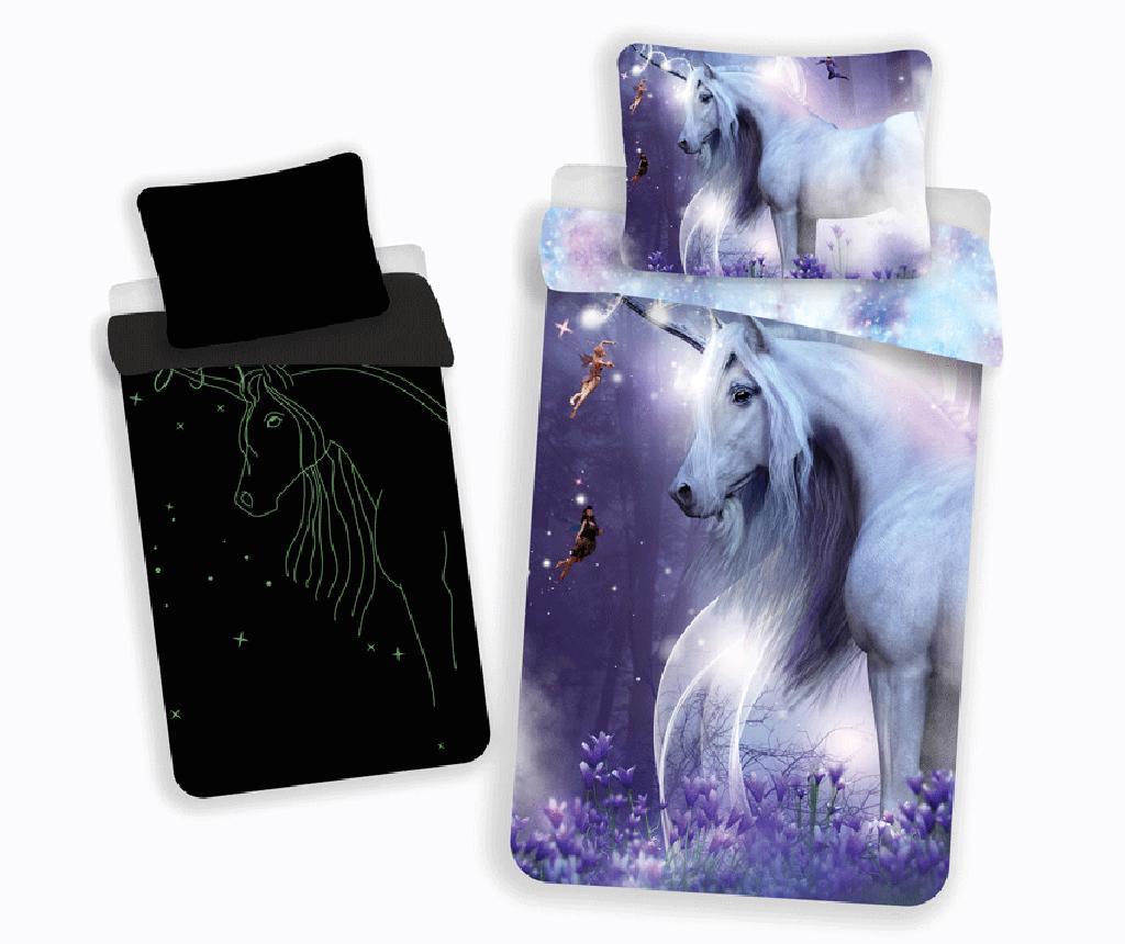 Set de pat Single Ranforce Unicorn