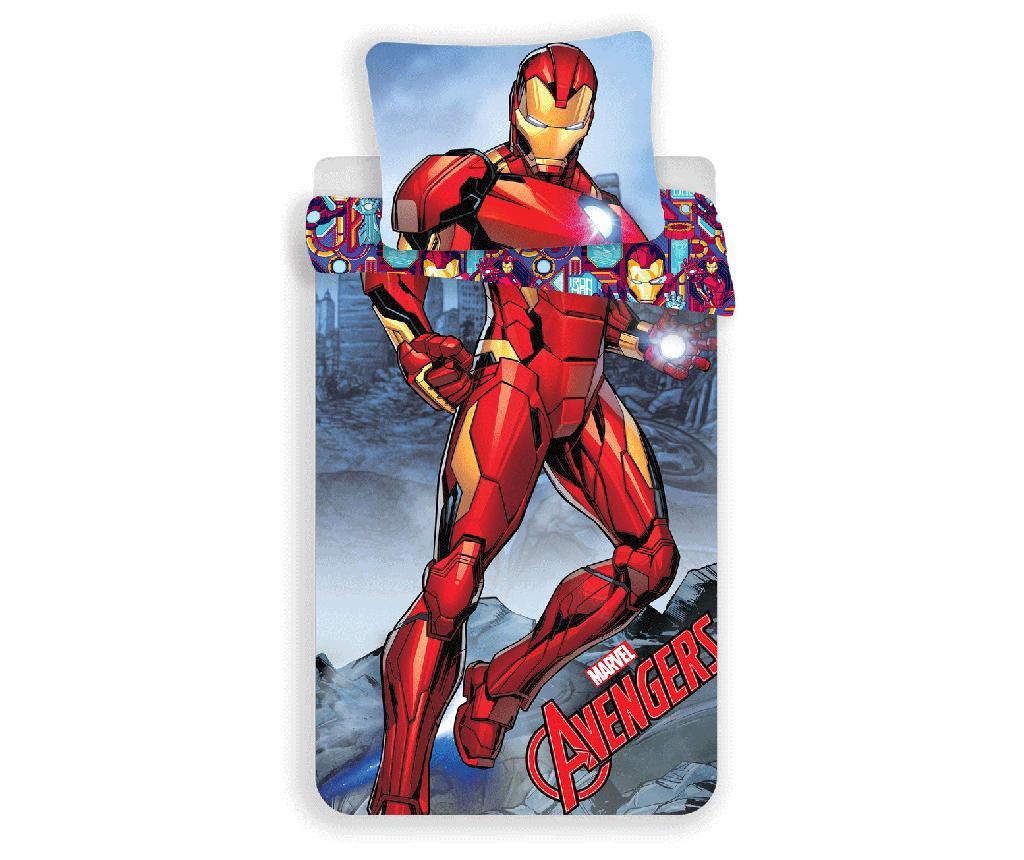 Set de pat Single Ranforce Iron Man