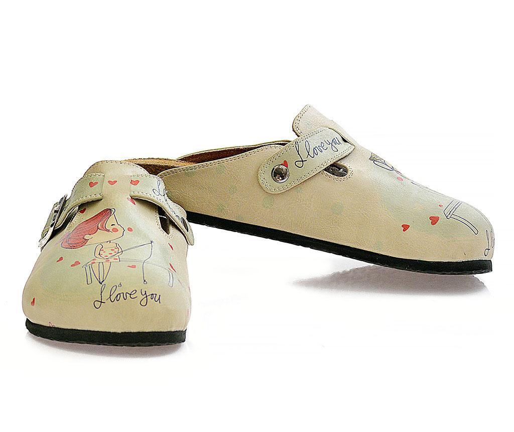 Dámské uzavřené pantofle I Love You 35