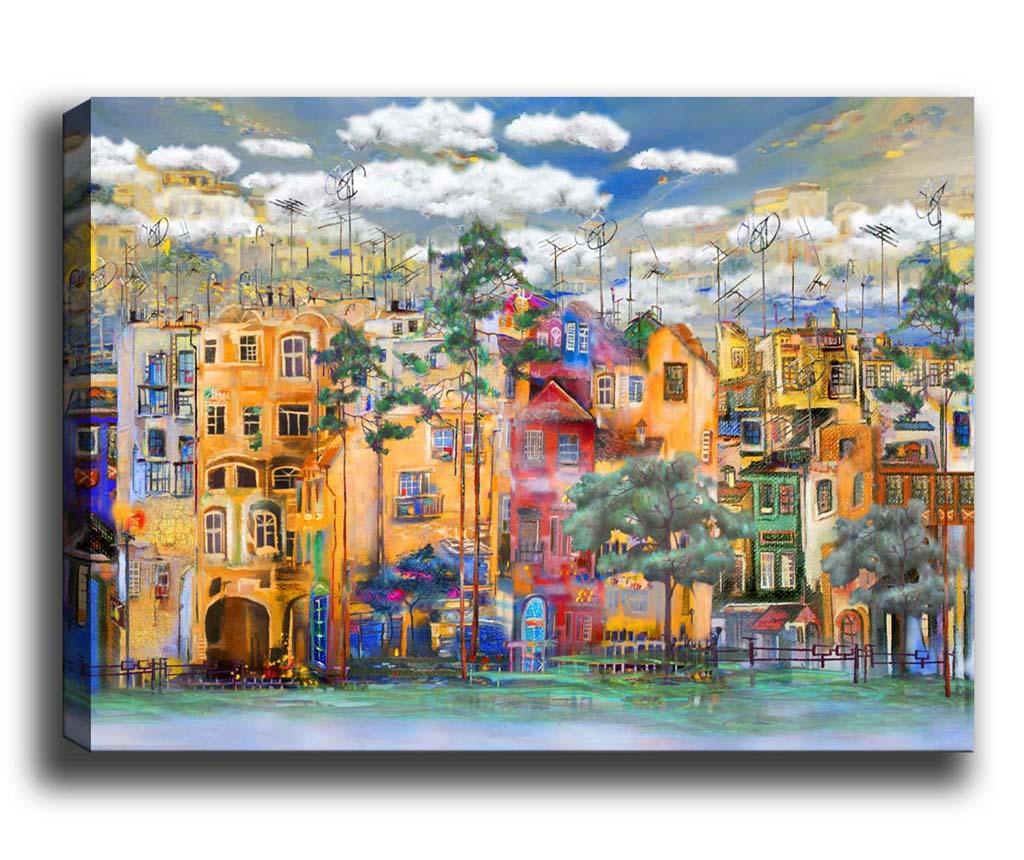 Tablou Colourful City 100x140 cm
