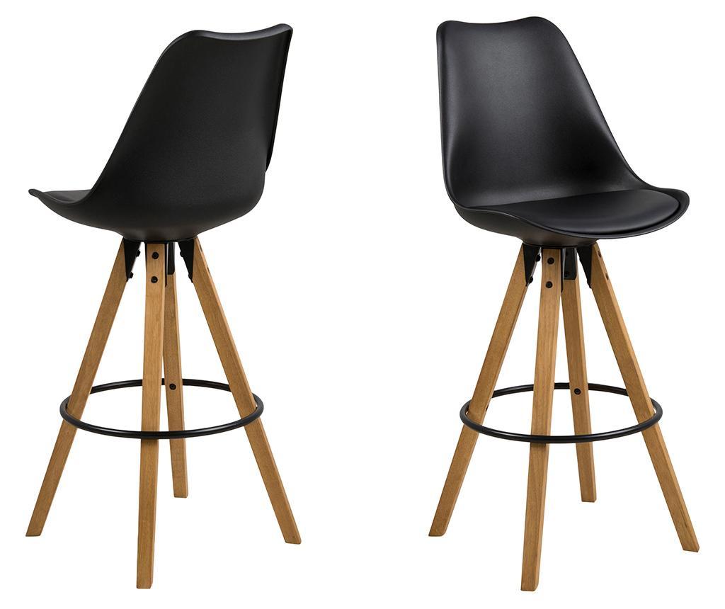 Set 2 scaune de bar Dima Black