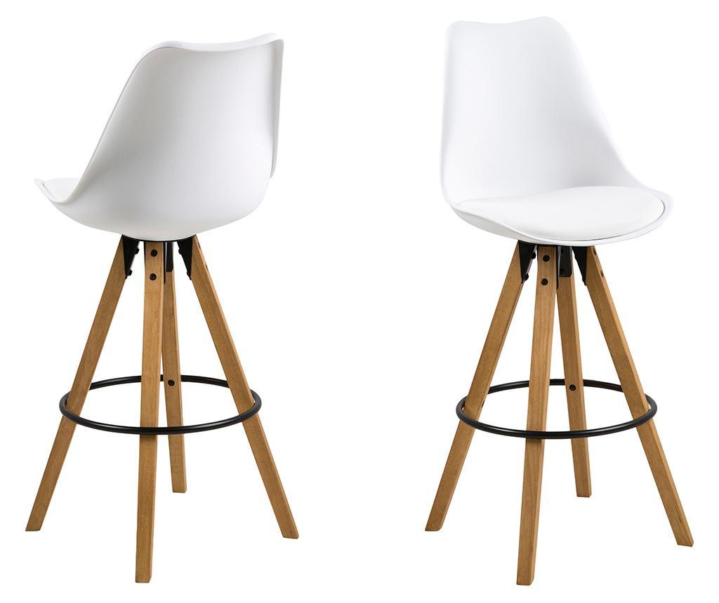 Set 2 barske stolice Dima White