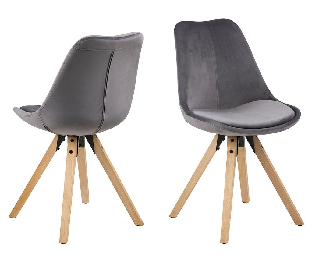 Set 2 stolice Dima Soft Dark Grey
