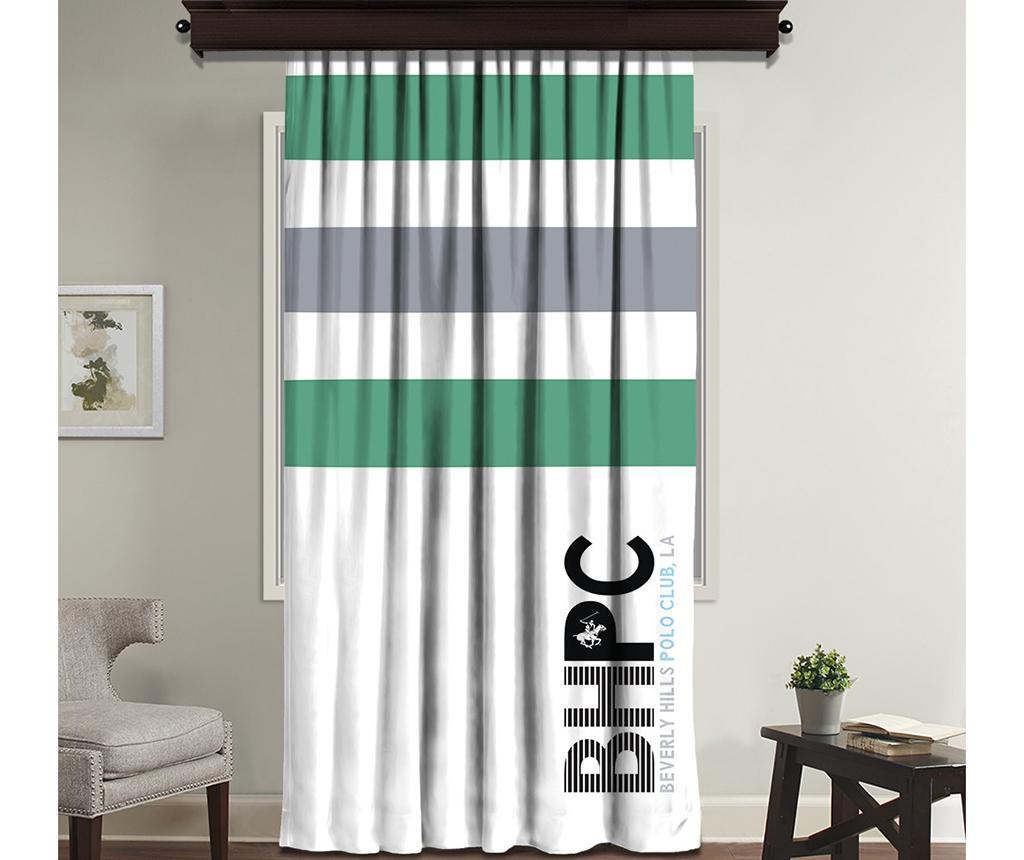 Zastor Beverly White Green 140x260 cm