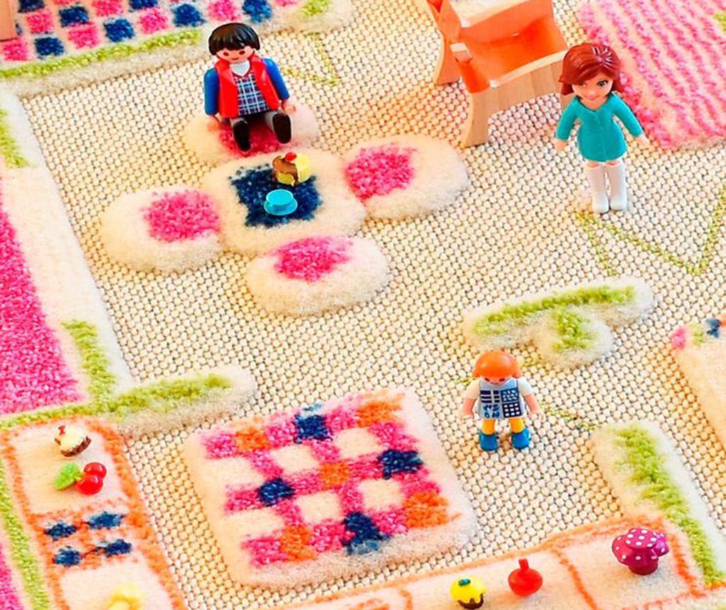 Playhouse S 3D Pink Játszószőnyeg 80x113 cm