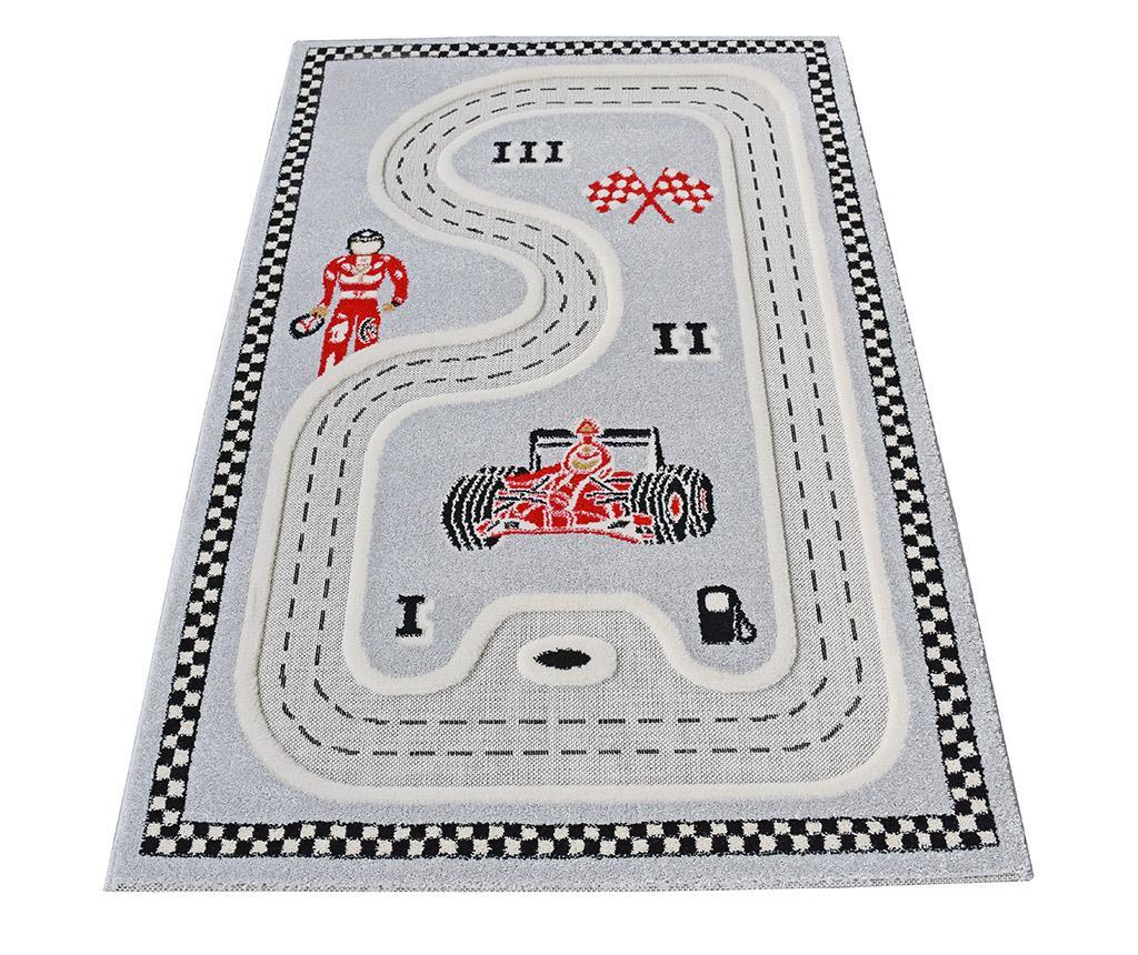 Koberec na hraní Racer 3D Grey 134x180 cm
