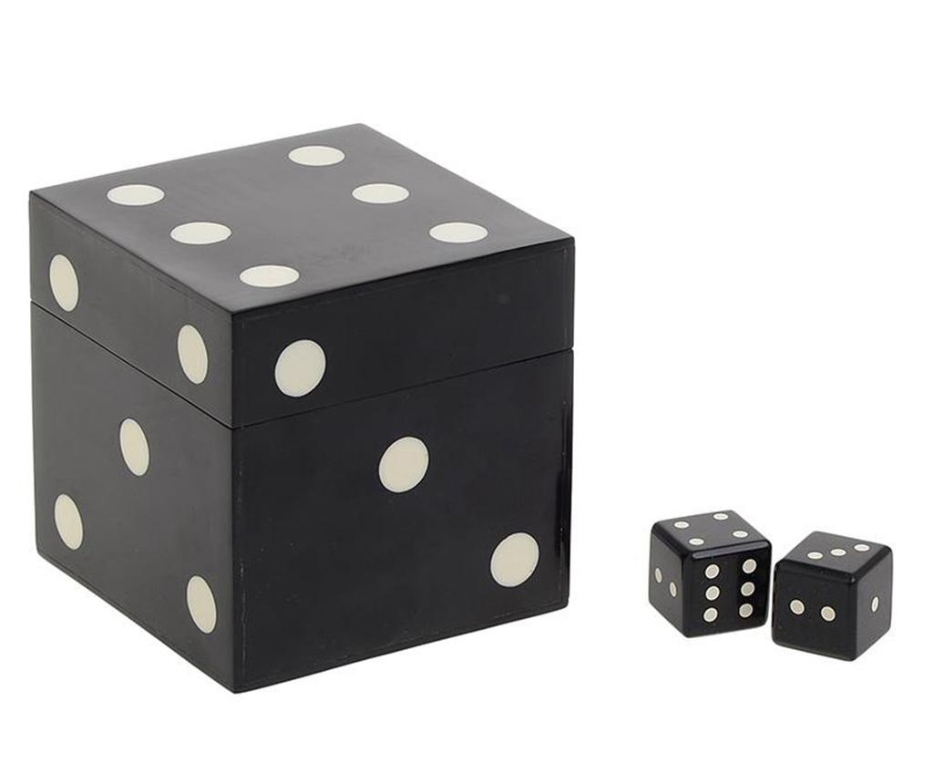 Škatla s 5 kockami Luck Black M