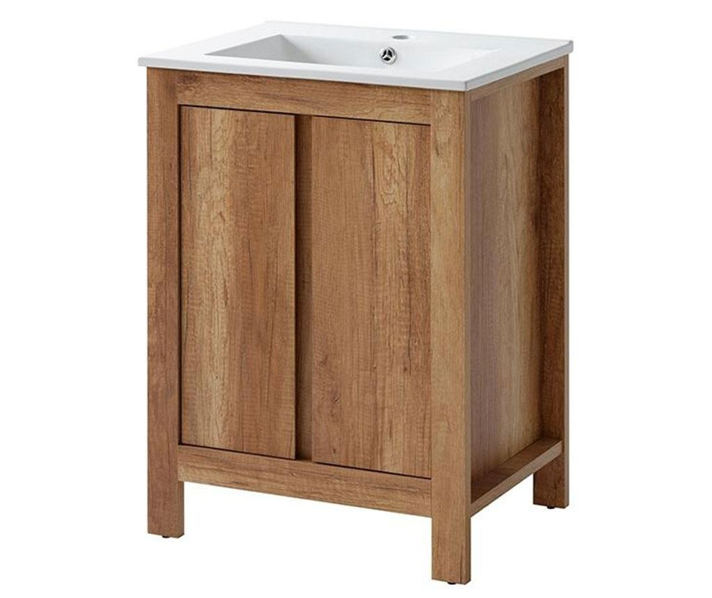 Set - omarica in umivalnik Classic Oak