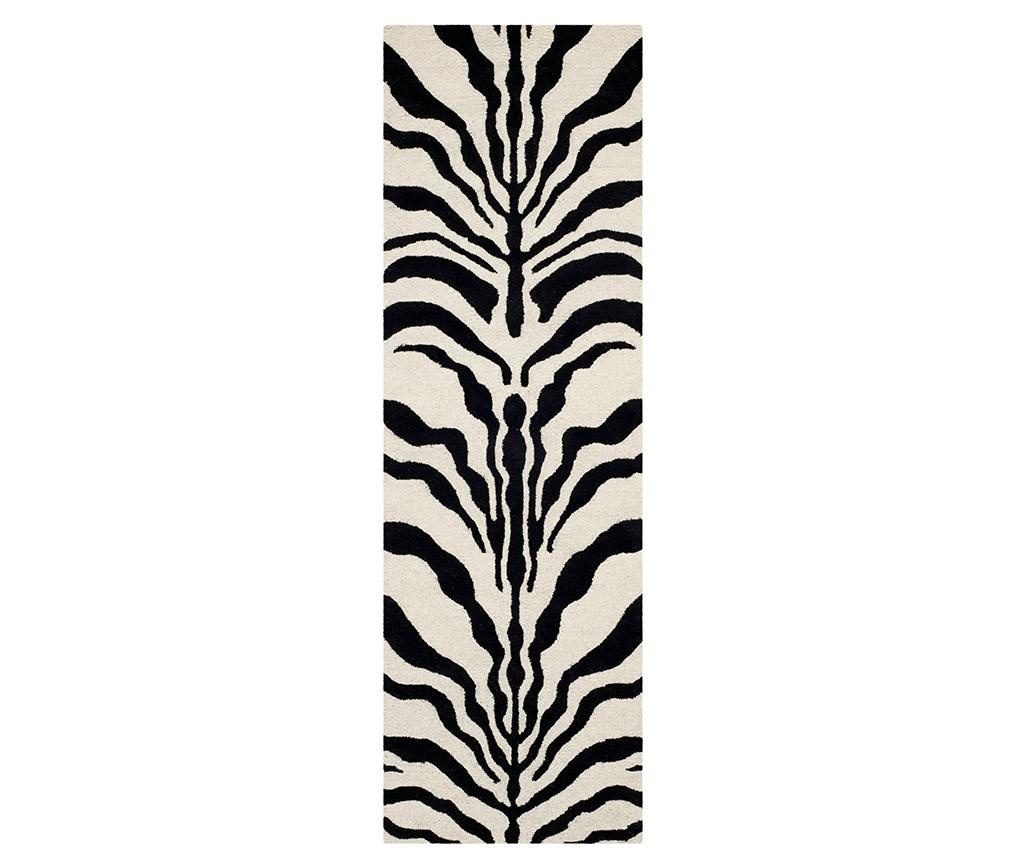 Tepih Nahla Ivory Black 62x240 cm