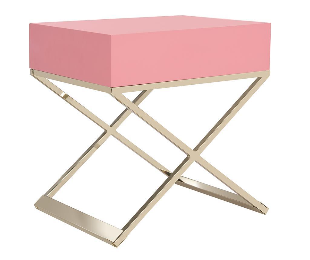 Masuta cu 1 sertar Harlow Pink