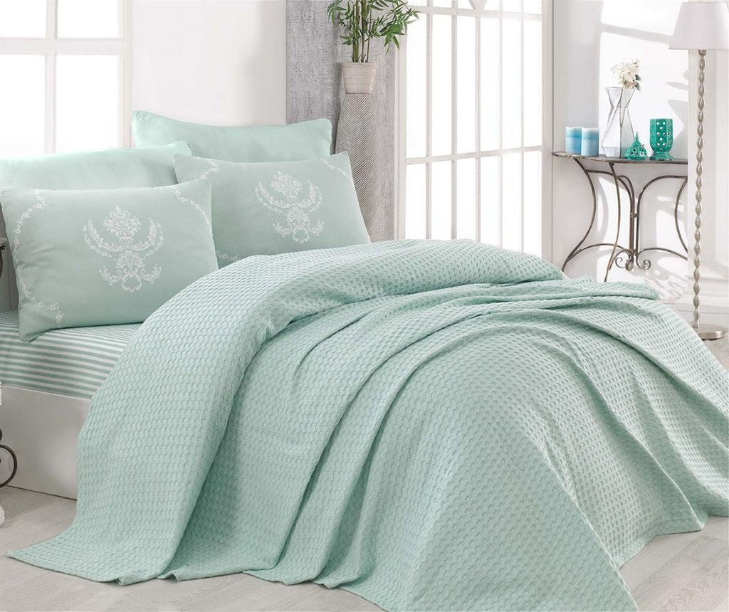 Posteljina Double Pique Pure Water Green 200x235