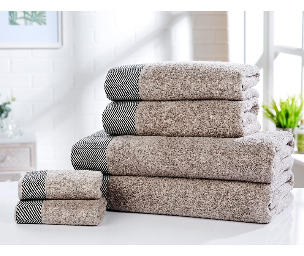 Set 6 kupaonskih ručnika Tidal Natural