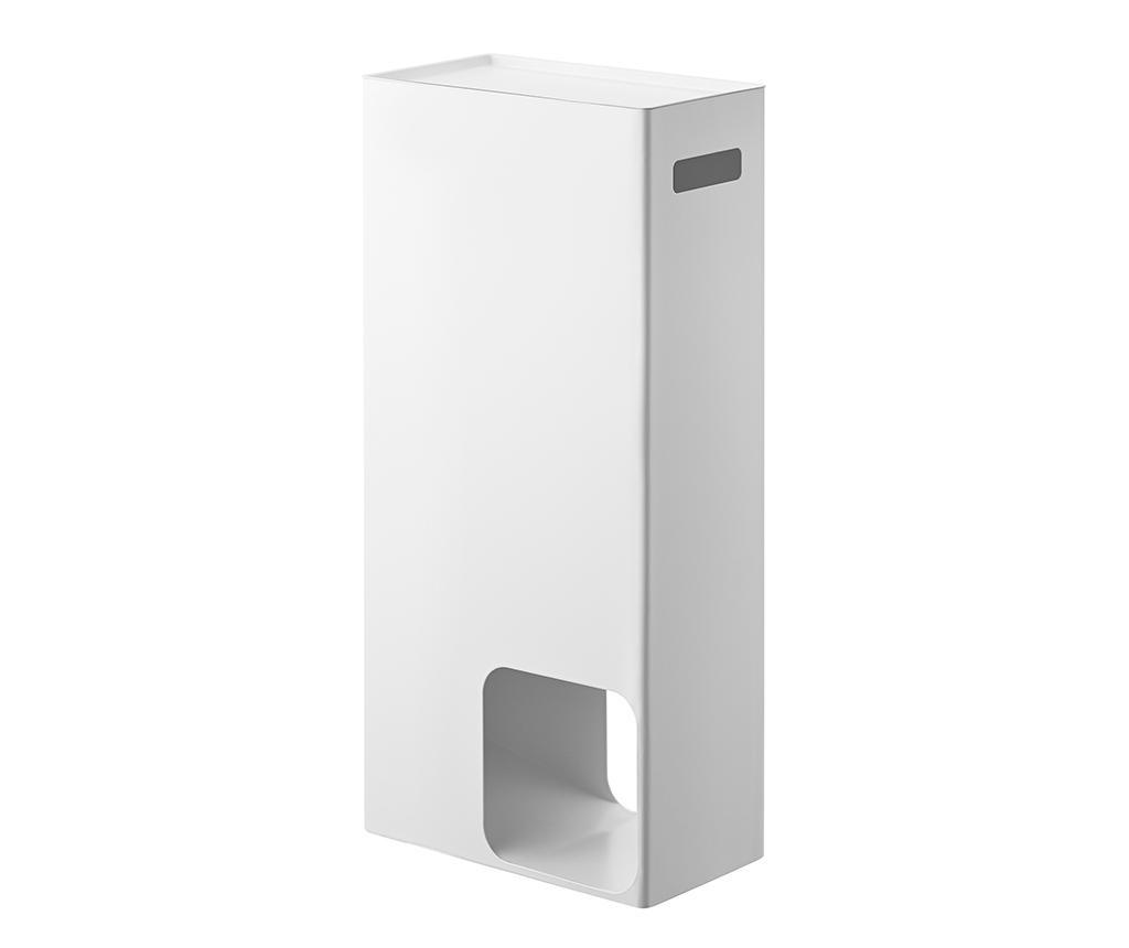 Držalo za shranjevanje toaletnega papirja Tower White