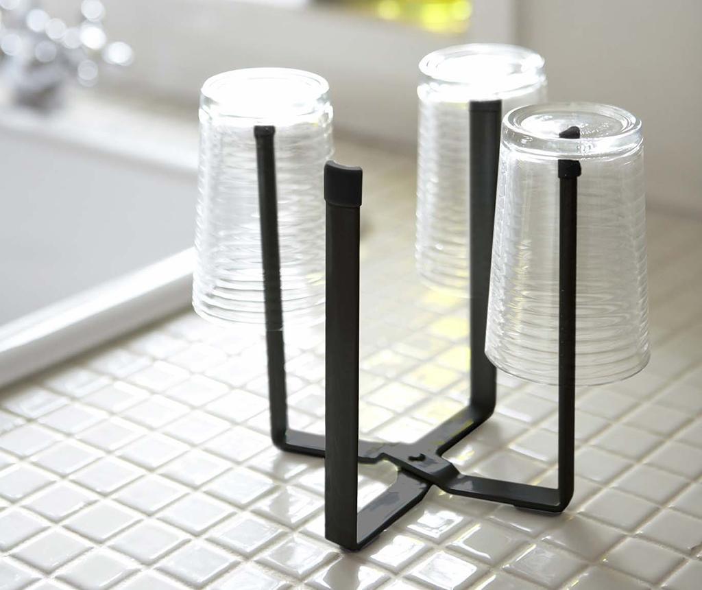 Składany stojak na reklamówki Tower Black