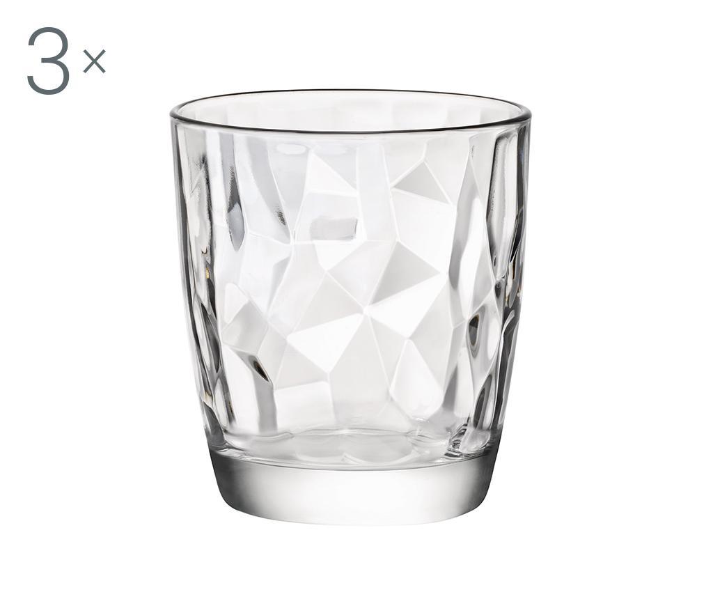 Set 3 čaše Diamond Clear 300 ml
