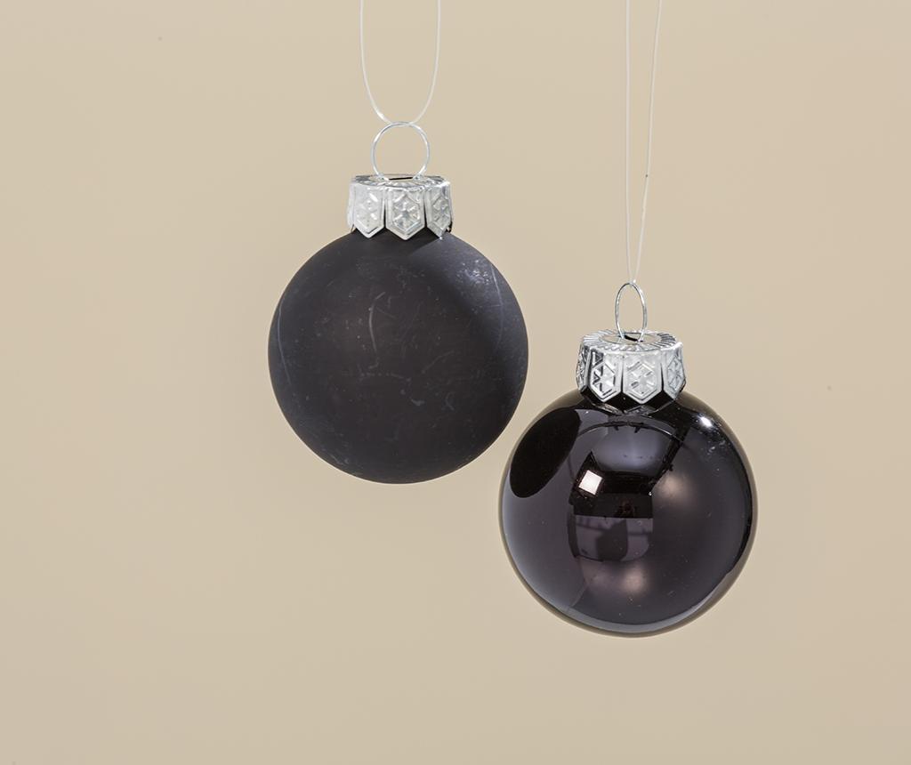Set 24 globuri decorative Night Black