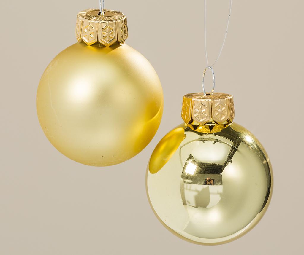 Set 24 globuri decorative Night Gold