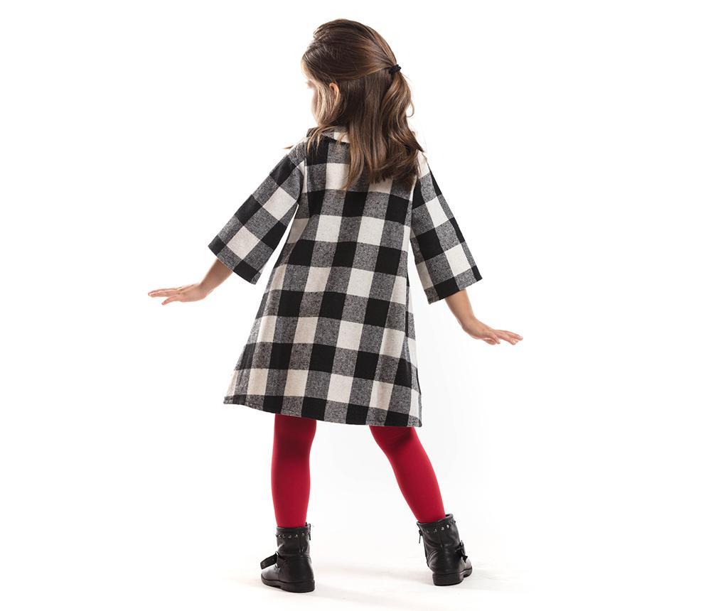 Rochie cu maneca trei sferturi pentru copii Pompom 7 ani