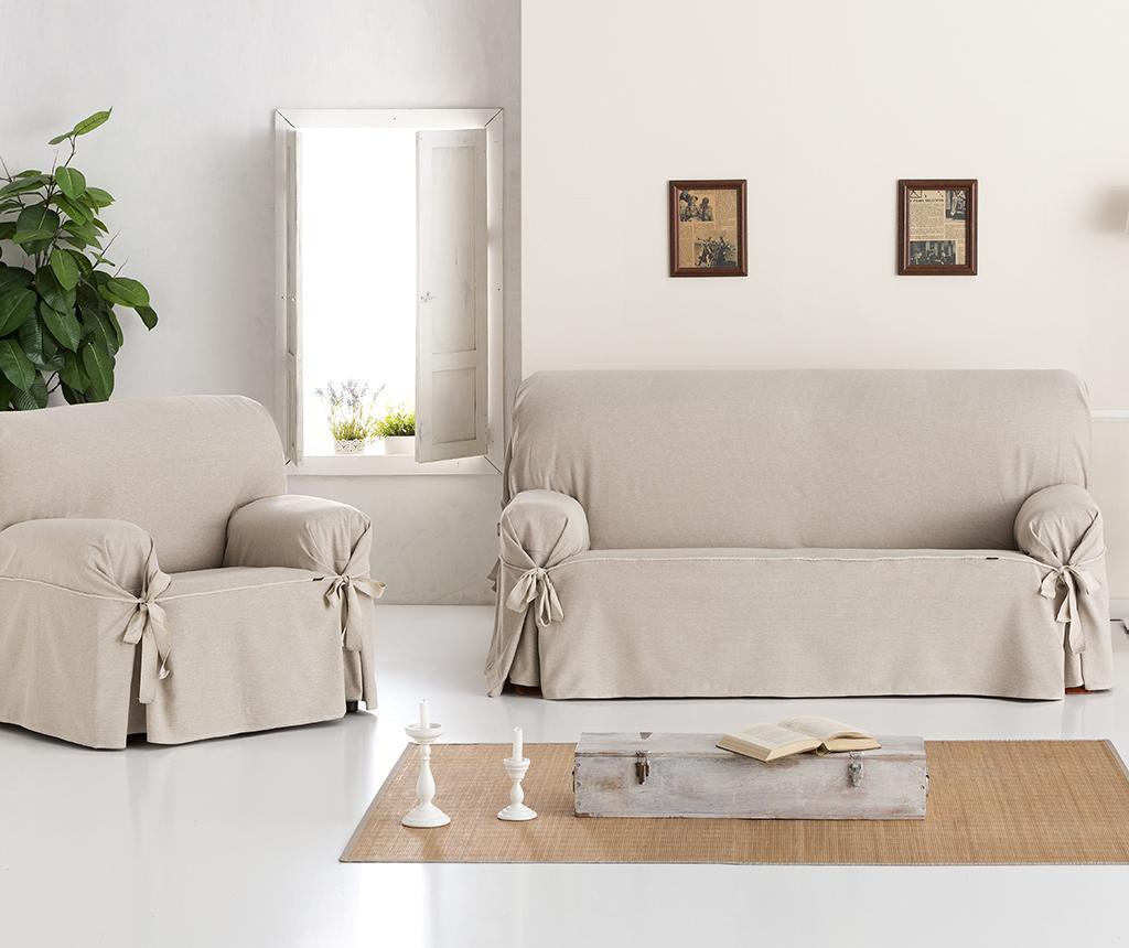 Constanza Linen Bows Állítható kanapé védőhuzat 170-200 cm