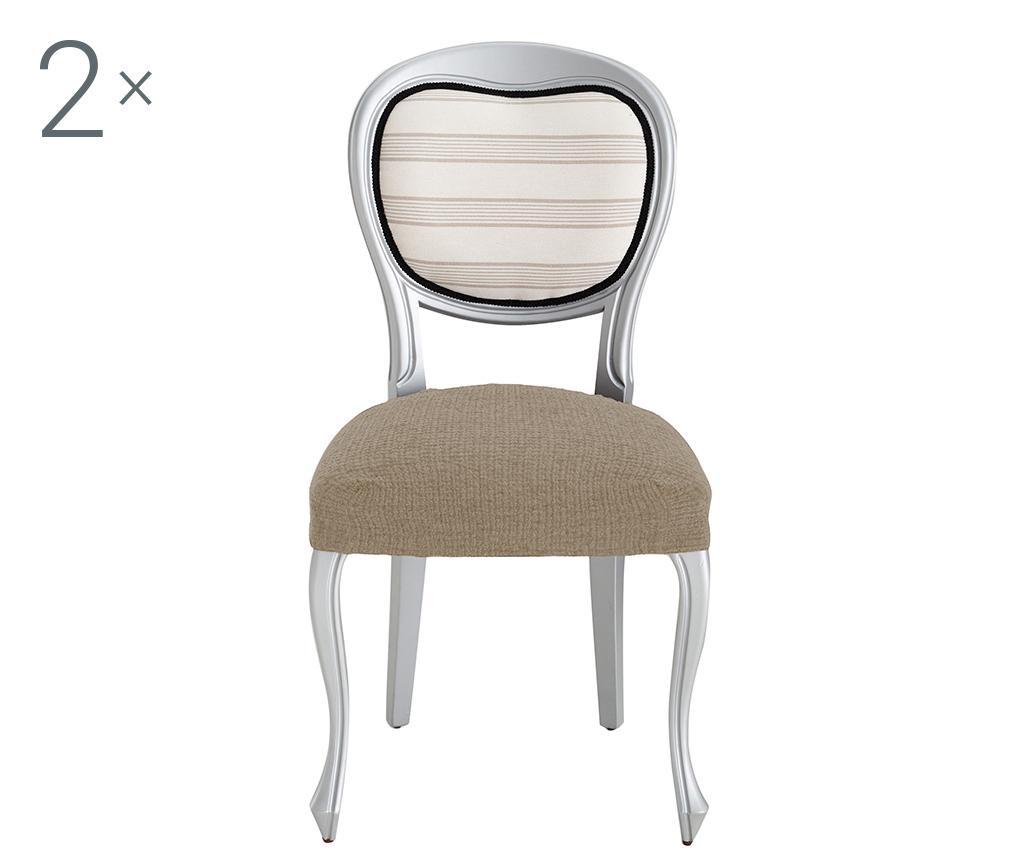 Set 2 huse elastice pentru scaun Dorian Tan Backless