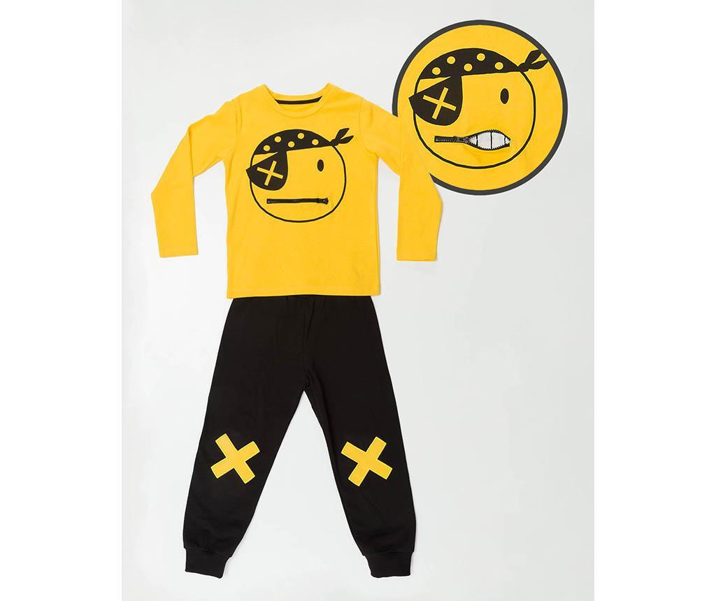 Set bluza si pantaloni pentru copii Pirate Emoji 6 ani