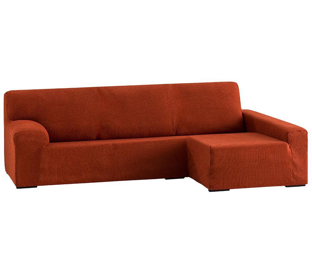 Husa elastica pentru coltar dreapta Dorian Dark Orange
