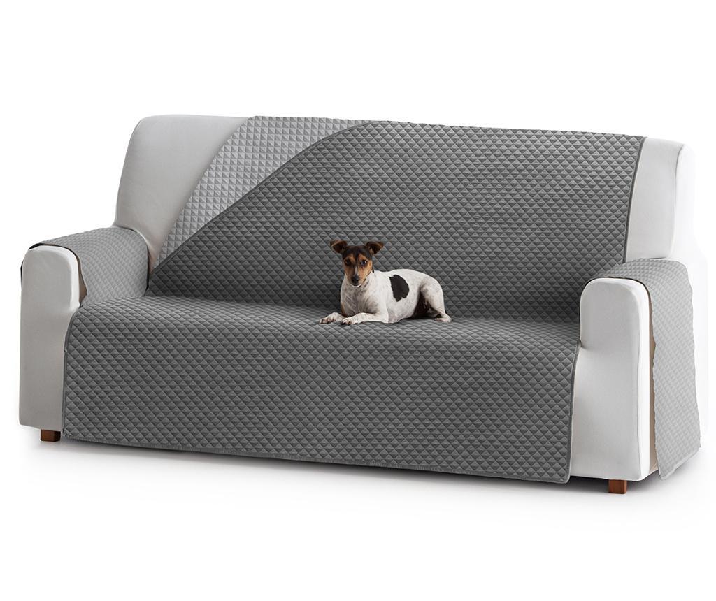 Prošivena navlaka za kauč Oslo Reverse Dark & Light Grey 190x80x220 cm