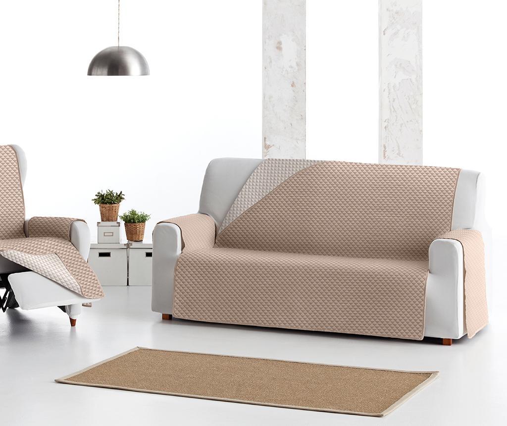 Husa matlasata pentru canapea Oslo Reverse Beige & Ecru 190 cm