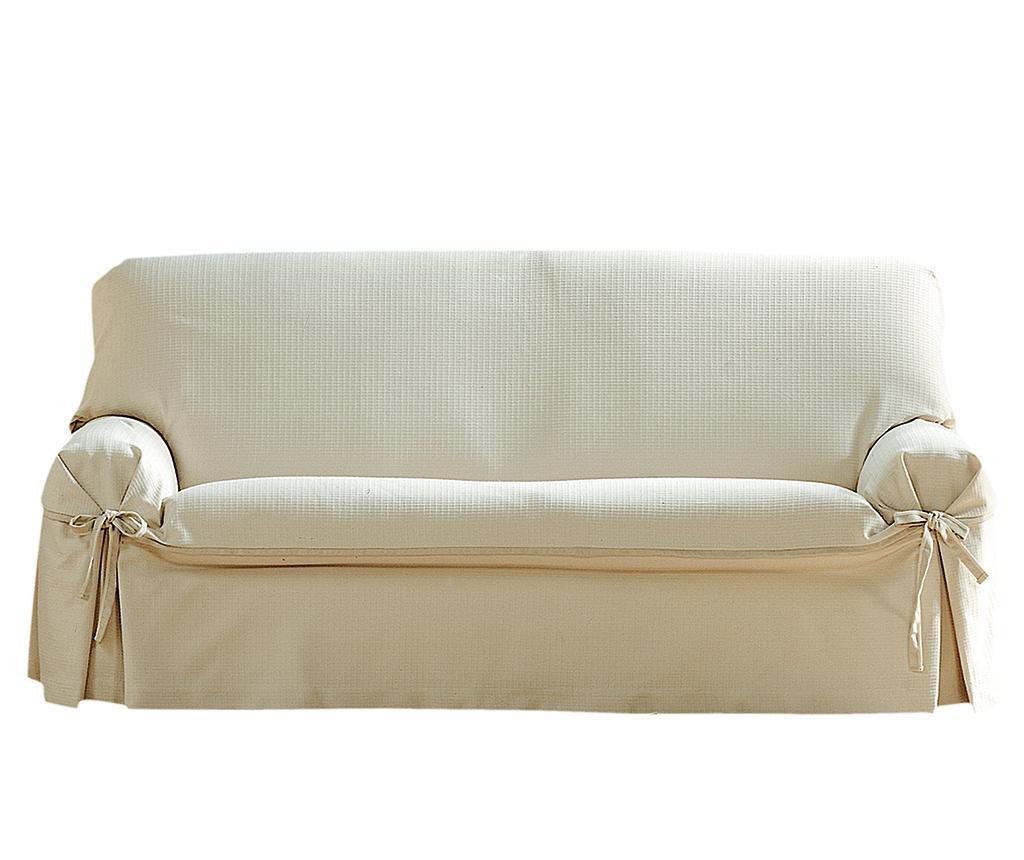 Husa ajustabila pentru canapea Paola Ecru Bows 140-180 cm