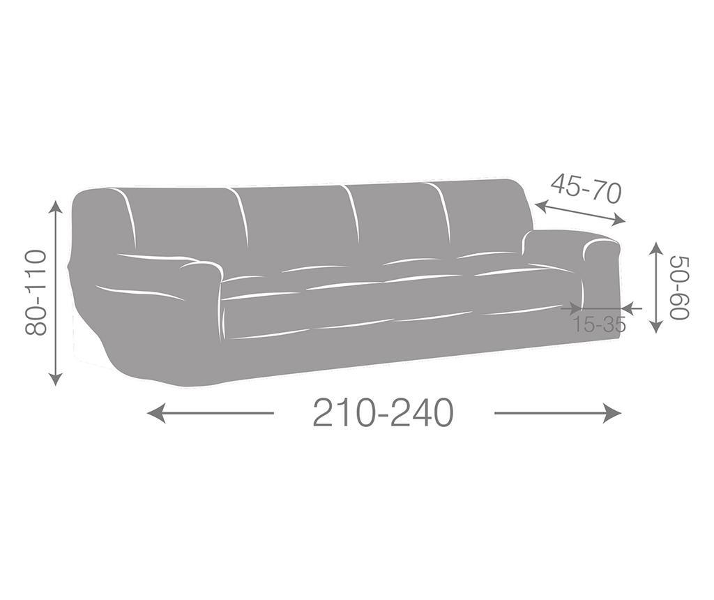 Elastický potah na pohovku Ulises Grey 210-240 cm