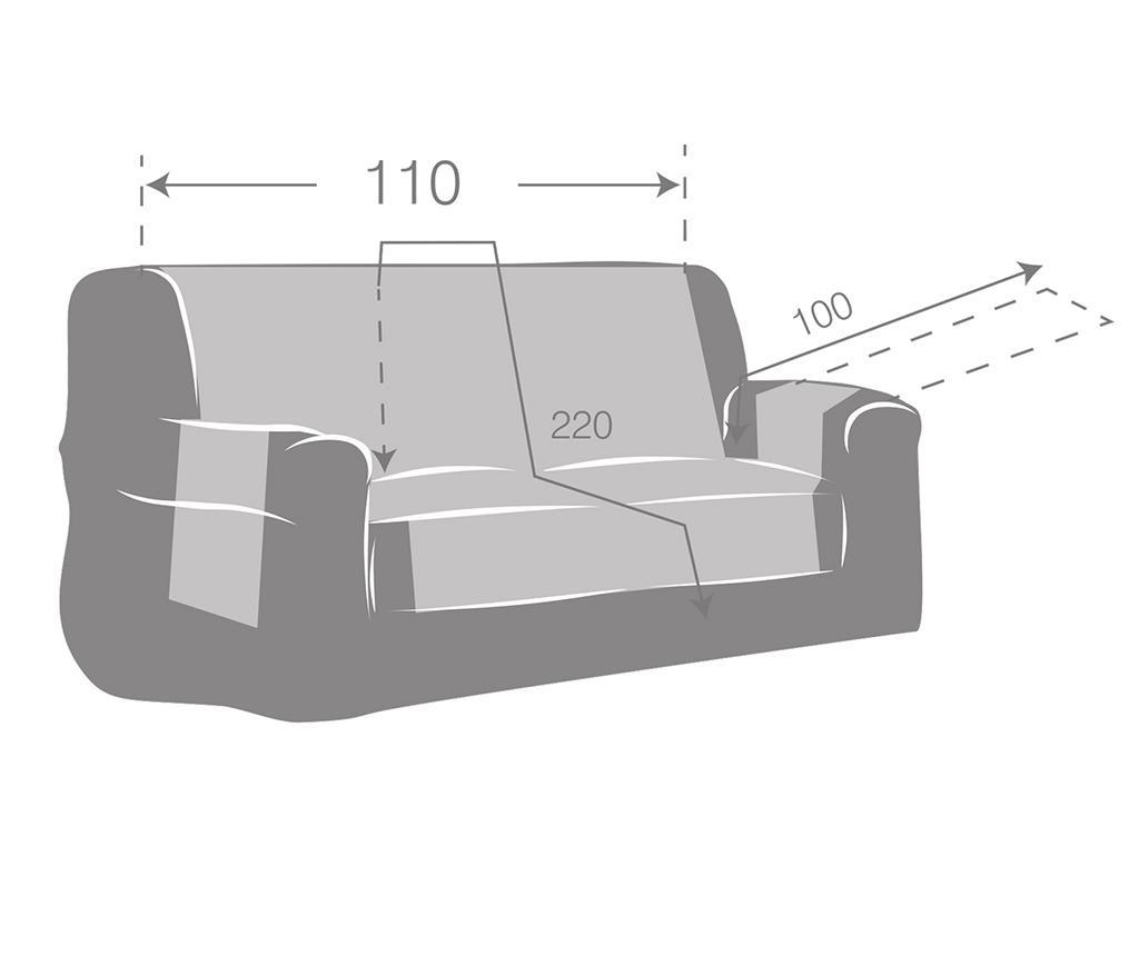 Husa matlasata pentru canapea Oslo Reverse Brown & Tan 110 cm