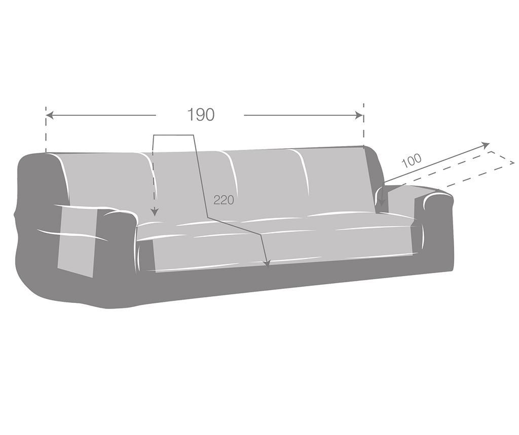 Prešita prevleka za kavč Oslo Reverse Dark & Light Grey 190 cm