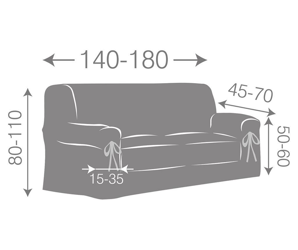 Paola Ecru Bows Állítható kanapé védőhuzat 140-180 cm
