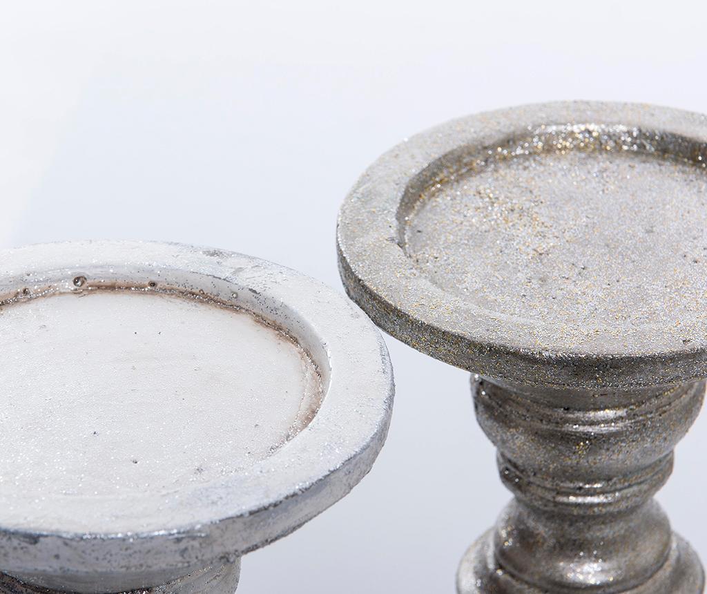 Set 2 suporturi pentru lumanare Antique Cerise
