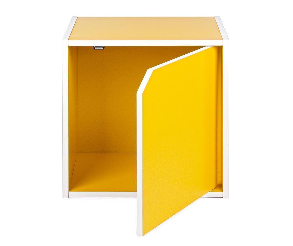Modularni element Cube Door Yellow