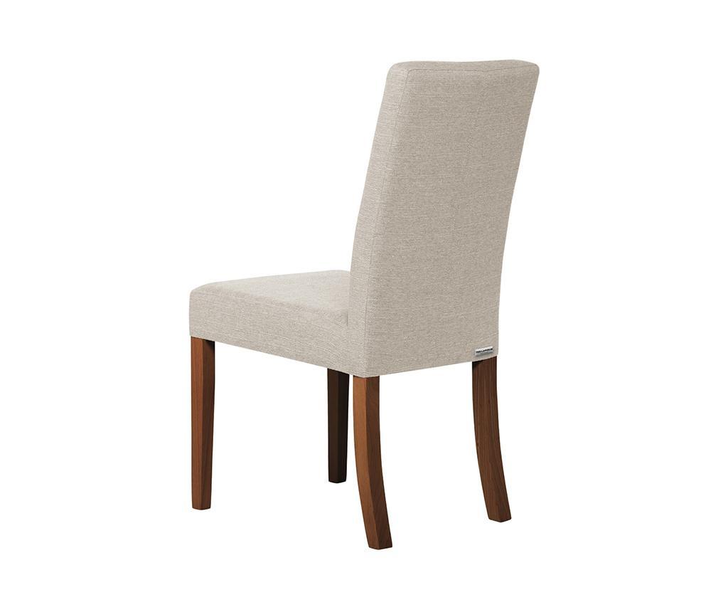 Set 4 scaune Tonka Brown Cream