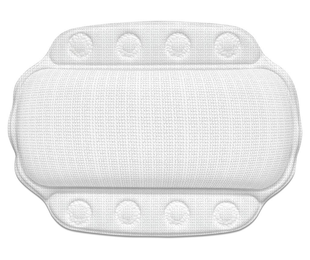 Възглавница за врат за вана Kreta White 23x32 см