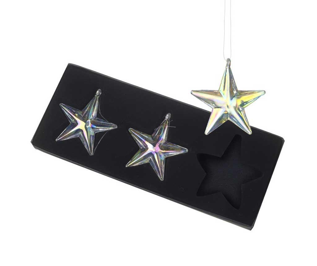 Set 3 decoratiuni suspendabile Stars